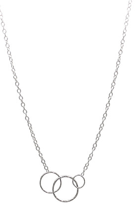 INTERLOCKING CIRCLE NECKLACE STERLING SILVER by Lucy Ashton Jewellery