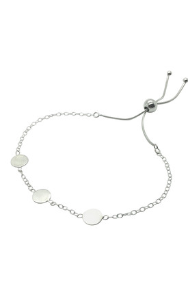 THREE SMALL CIRCLE DISC BRACELET STERLING SILVER by Lucy Ashton Jewellery