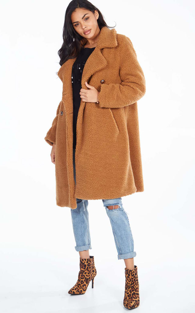 MERIDEL – Sahara Double Breasted Maxi Coat by Blue Vanilla