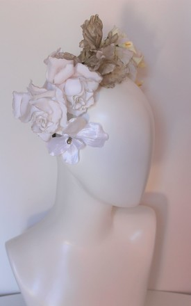 Winny winter white rose headband by Kate Coleman