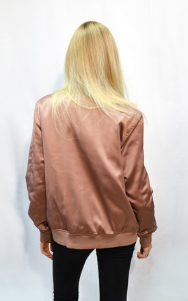 Oversized Satin Shark Wide padded-shell Bomber Jacket by CY Boutique