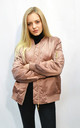 Oversized Bomber Jacket in Rose Gold by CY Boutique