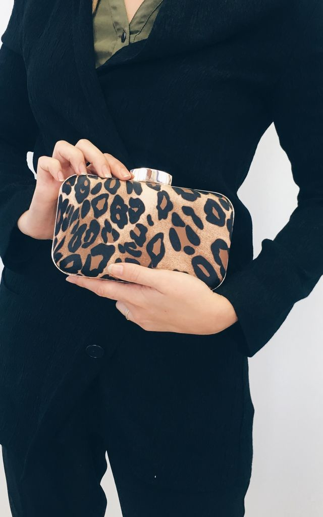 LEOPARD CLUTCH by THE CODE HANDBAGS