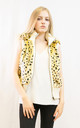 Faux Fur Gilet with Hood in Leopard Print by CY Boutique