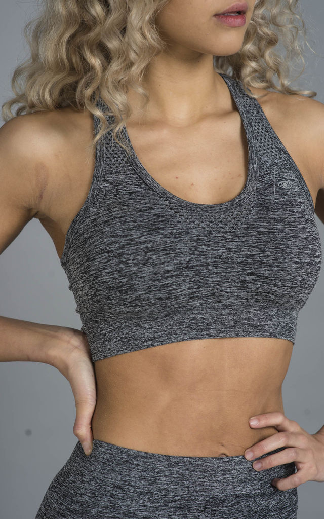 ST Balanced Ombre Sports Bra Grey Fade by Seeing Thngs