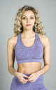 ST Balanced Ombre Sports Bra Purple Fade by Seeing Thngs