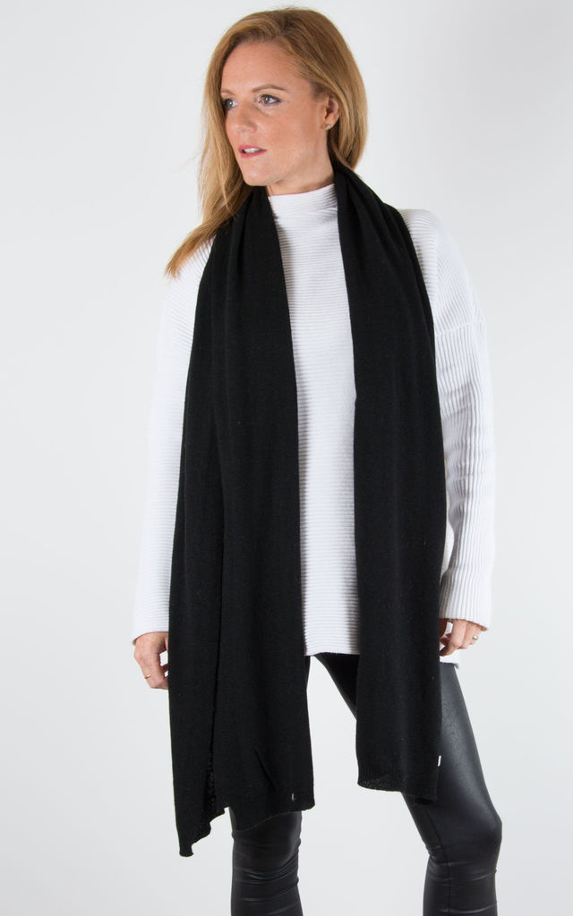Black Cashmere Mix Scarf by number 37