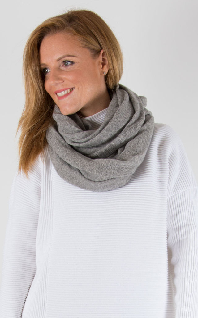 Grey Cashmere Mix Scarf by number 37