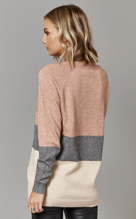 Rose Block Colour Pullover Knit by ONLY