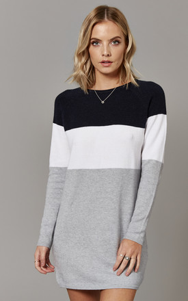 Night Sky Colour Block Long Sleeve Jumper Dress by ONLY Product photo