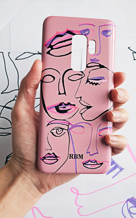 Girl talk monogram phone case by Rianna Phillips