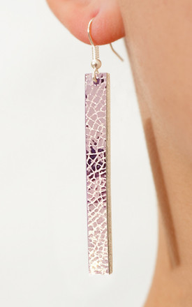 Mirror Drop Earrings Pink by Isabel Wong