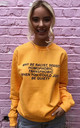 Sweater in Gold Yellow with Equality Slogan by Save The People