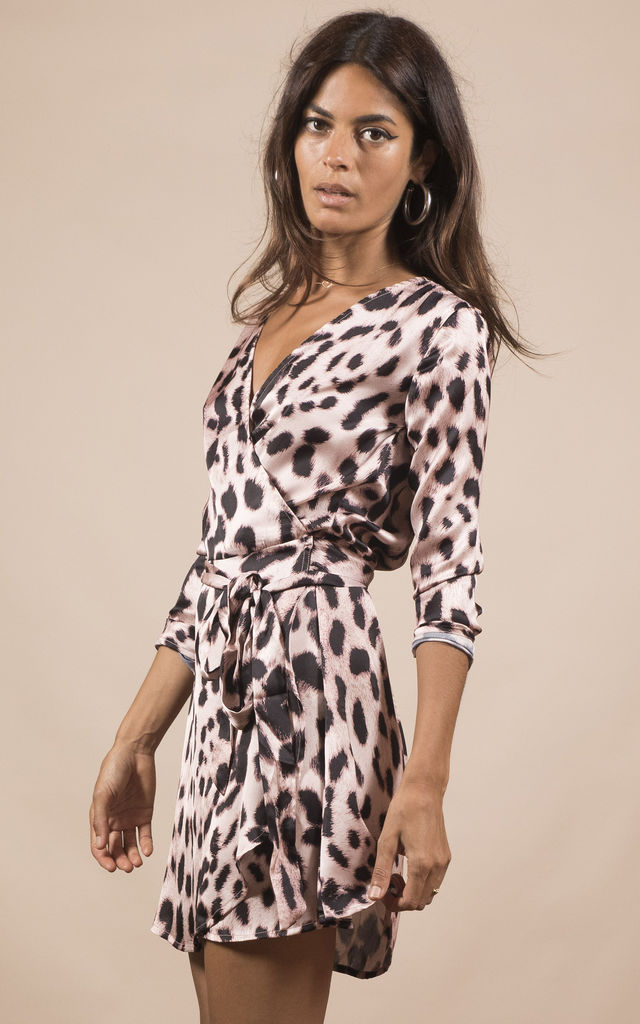 MARLEY DRESS IN BLUSH LEOPARD image