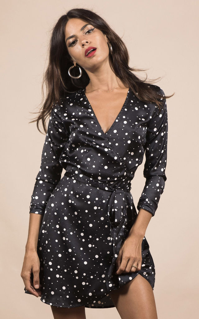 MARLEY DRESS IN BLACK SPECKLE image