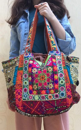 Banjara Tote - Flower Power by SNAZZY LONDON