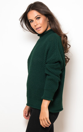 Robyn High Neck Jumper Emerald by Girl In Mind