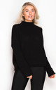 Robyn High Neck Jumper Black by Girl In Mind