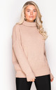 Robyn High Neck Jumper Nude by Girl In Mind