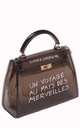 Black transparent graffiti jelly tote mini bag by Hello Handbag