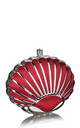 Red Art Deco style shell evening clutch bag by Hello Handbag