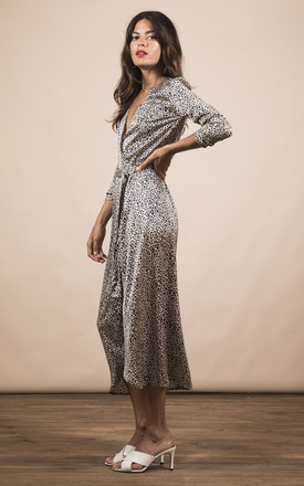 YONDAL DRESS IN NUDE LEOPARD by Dancing Leopard