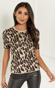 Natural Leopard Knit Top by Lilah Rose