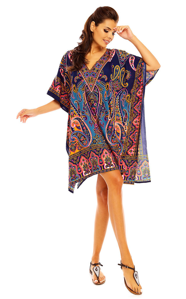 Oversized Kimono Kaftan Tunic Kaftan in Navy by Looking Glam