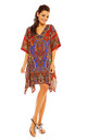 Mini Kaftan style Dress in Red by Looking Glam