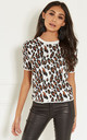 White Leopard Knit Top by Lilah Rose