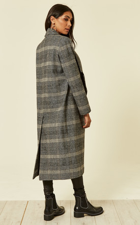 Grey Checked Coat by Liquorish