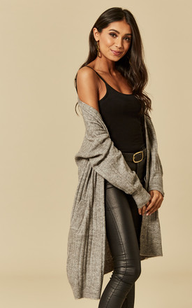 Light grey long sleeve cardigan by Pieces