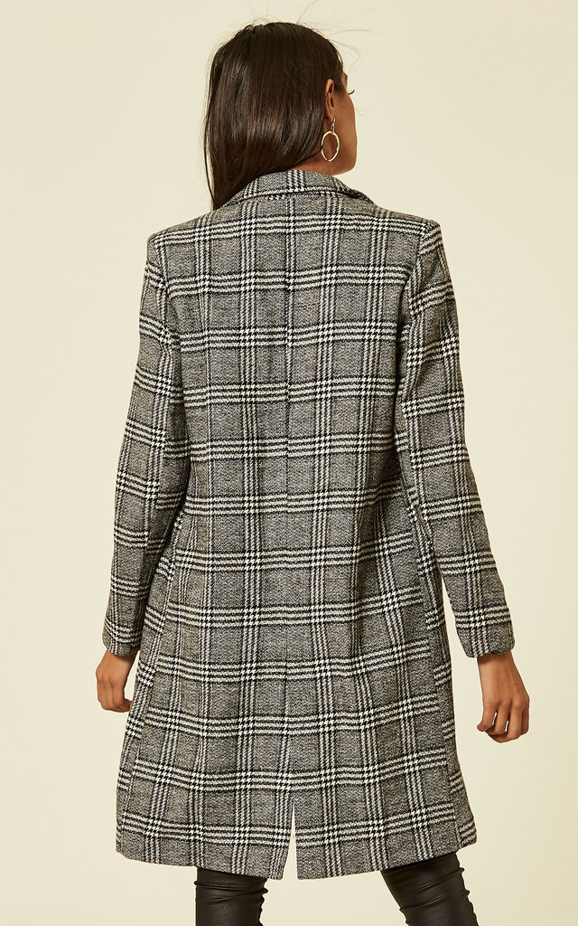 Grey Check Blazer Coat by UNIQUE21