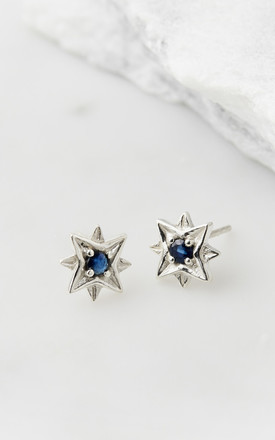 Guiding North Star Studs - Sapphire by Charlotte's Web