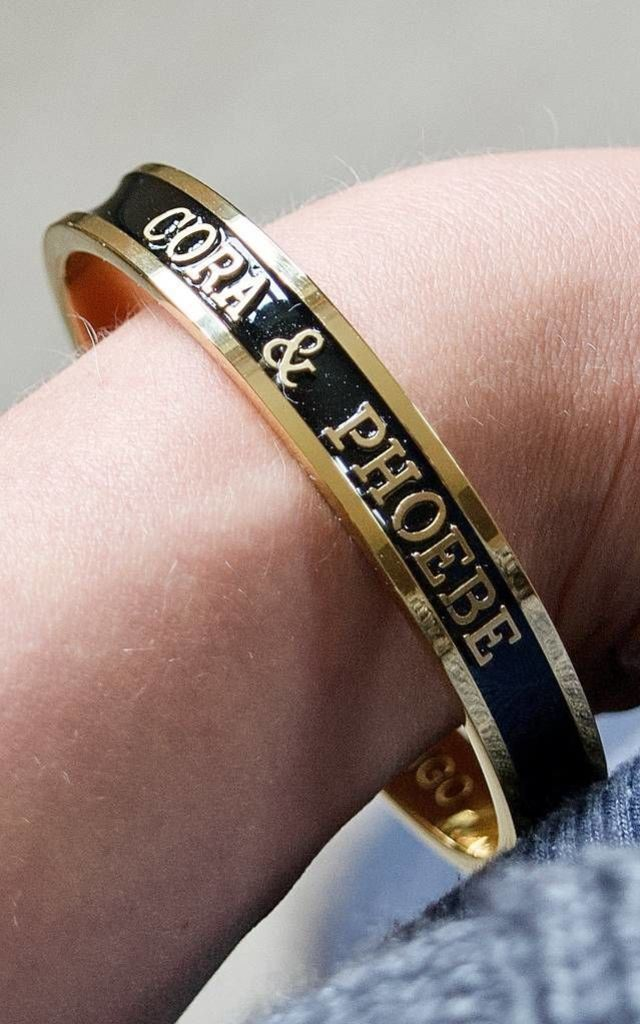 Baby Name Bangle For Mothers 18ct Gold by Florence London