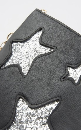 Black Glitter Star Bag by Nautical and Nice Ltd