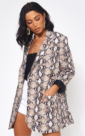 Diora Ltd Edition Snakeskin Blazer Jacket by The Fashion Bible