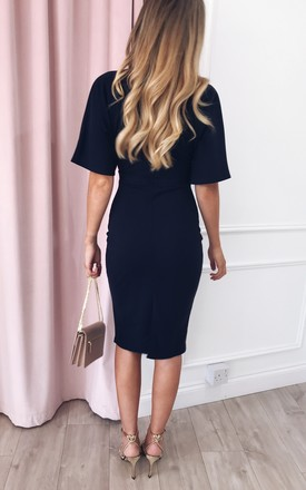 Sadie Bodycon Midi Dress -Navy by Pretty Lavish