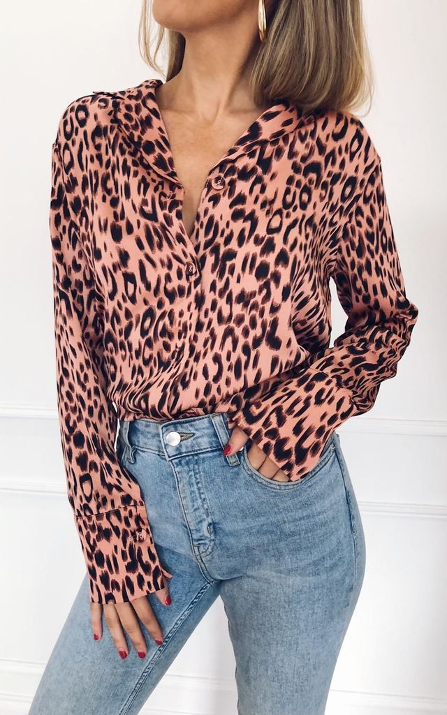 Amara Shirt - Pink Leopard by Pretty Lavish