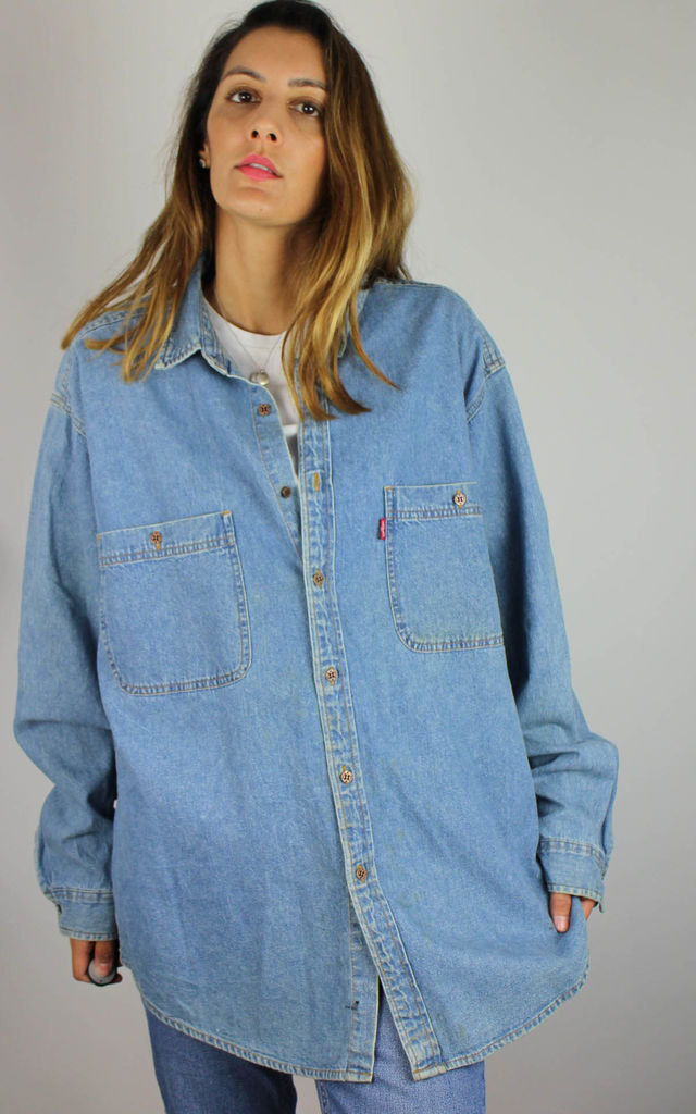 Vintage Levi's Denim Shirt Top with Red Tab Logo by Re:dream Vintage