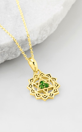 Heart Chakra Necklace   Gold by Charlotte's Web Product photo