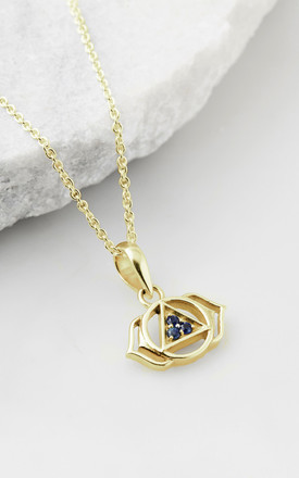 Third Eye Chakra Necklace  - Gold by Charlotte's Web