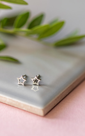Sterling Silver Star Studs by Collections by Hayley
