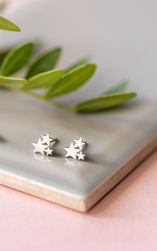 Sterling Silver Wish Upon A Star Studs by Collections by Hayley