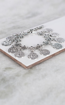 Antique Silver Lucky Coin Anklet by Collections by Hayley