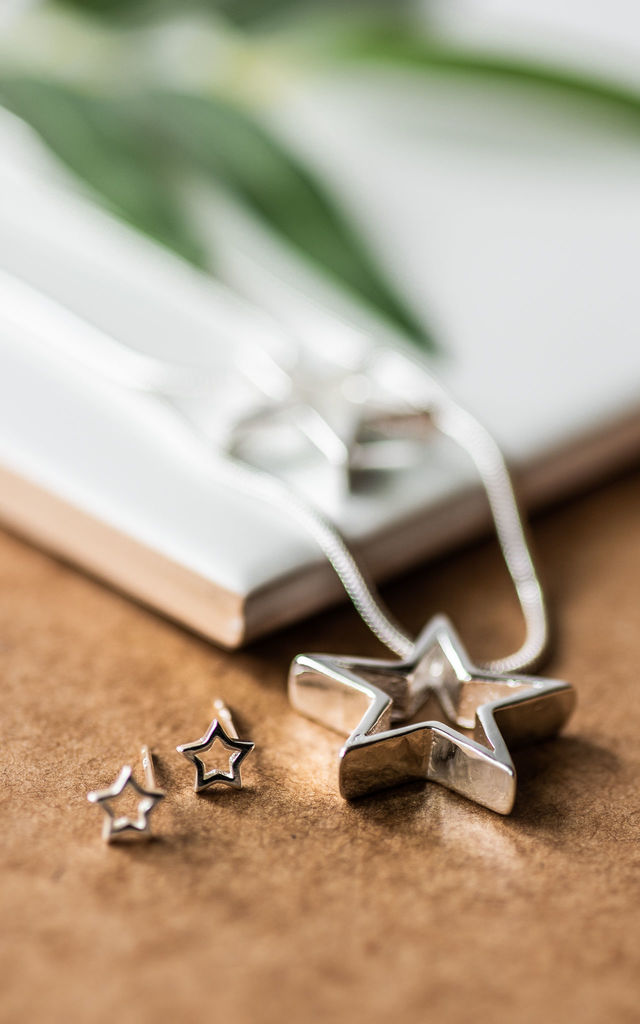 Sterling Silver Shooting Star Necklace by Collections by Hayley