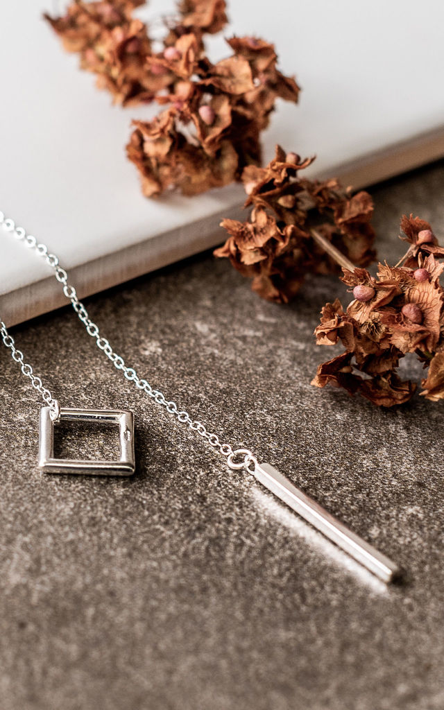 Sterling Silver Bar Necklace by Collections by Hayley