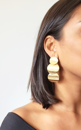 Jessica Gold Circle Earrings by AVAAYA Product photo