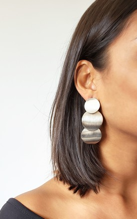 Jessica Silver Circle Earrings by AVAAYA Product photo