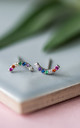 Lifes A Rainbow Silver Earrings by Collections by Hayley